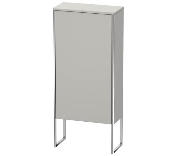 Additional image of Duravit XSquare 500 x 236mm 1 Door Floor Standing Semi-Tall Cabinet
