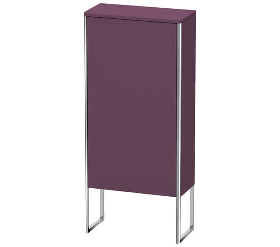 Alternate image of Duravit XSquare 500 x 236mm 1 Door Floor Standing Semi-Tall Cabinet
