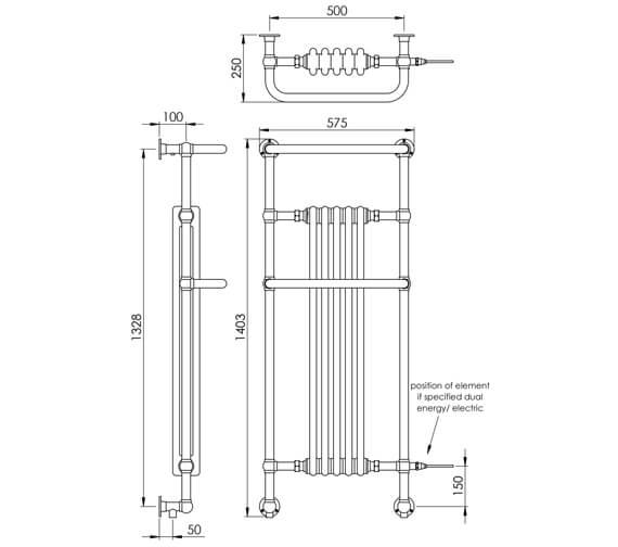 Technical drawing QS-V88576 / LG013WM MS140357CP
