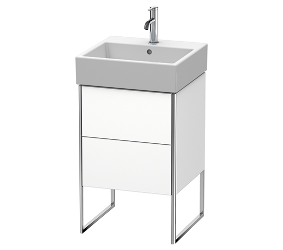 Duravit XSquare 484 x 460mm Floor-Standing Vanity Unit With 2 Pull-Out Compartment
