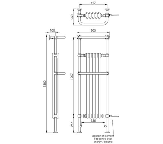 Technical drawing QS-V88577 / LG013FW MS150050CP