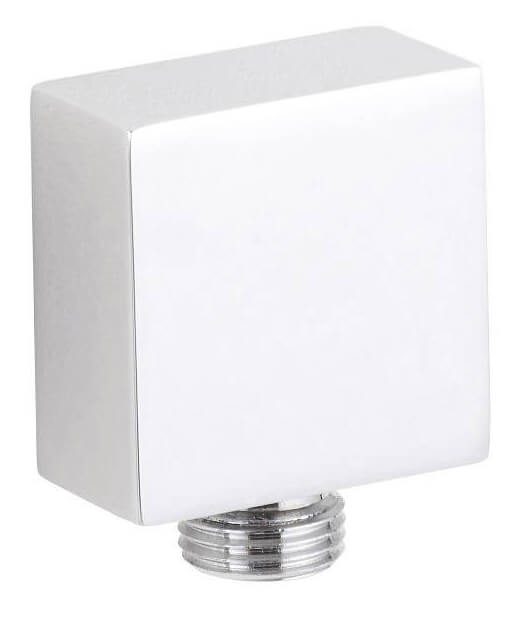 Hudson Reed Square Chrome Outlet Elbow