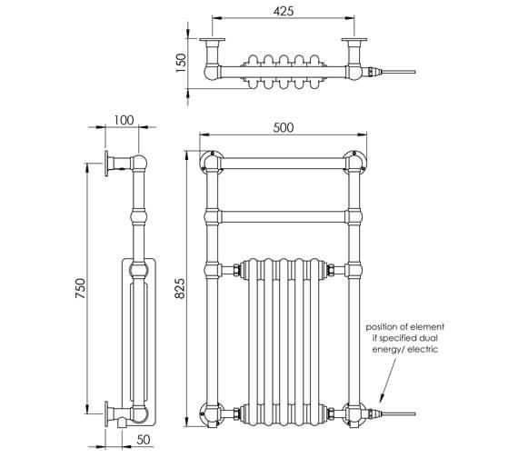Technical drawing QS-V88567 / LG036 BR082050CP