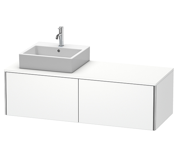 Duravit XSquare 1400mm Wall-Mounted Vanity Unit With 2 Pull-Out Compartments For Basin Left