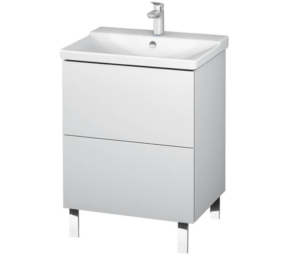 Duravit L-Cube Floor Standing 2 Drawer Vanity Unit For P3 Comforts Basin