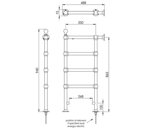 Technical drawing QS-V88583 / LG035 BR096048CP