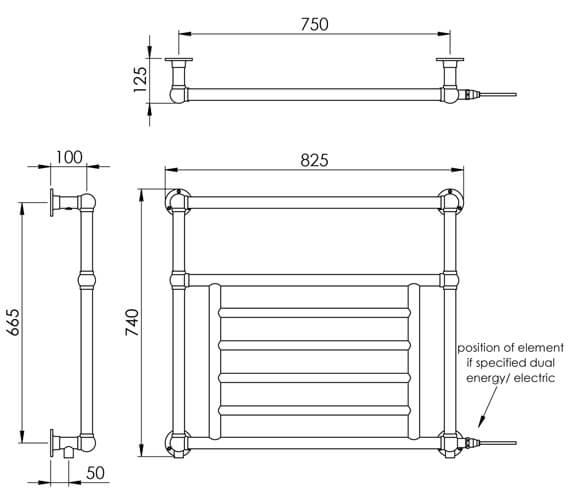 Technical drawing QS-V88585 / LG003E BR074082CP