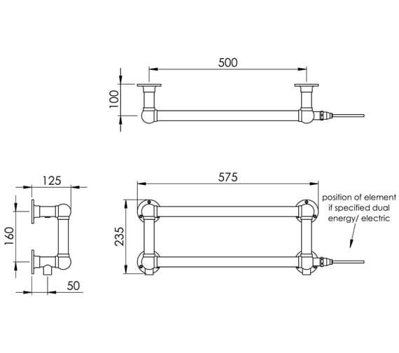 Technical drawing QS-V88582 / LG037 BR0235575CP
