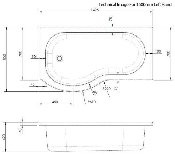 Technical drawing QS-V89436 / SBATH24