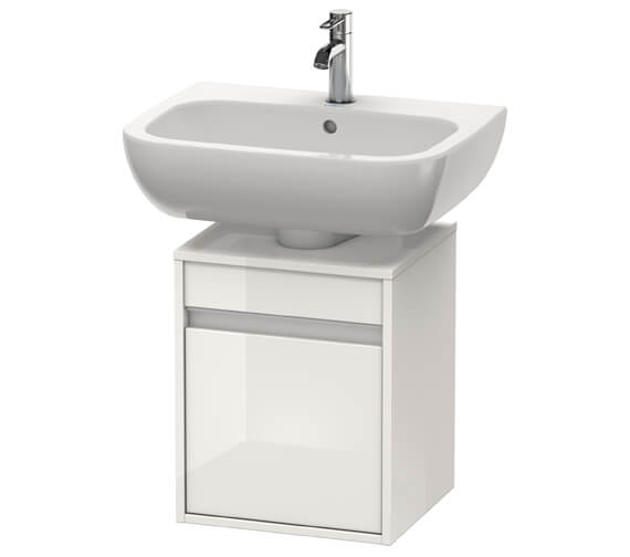 Alternate image of Duravit Ketho 400mm Single Door Wall-mounted Vanity Unit For D-Code Basin