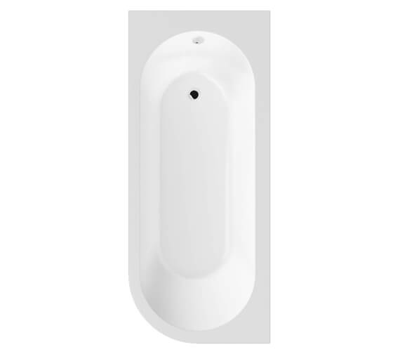Nuie Crescent 1700 x 725mm Back-To-Wall Left-Handed Bath And Panel - Ex Display