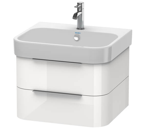 Duravit Happy D2 Wall Mounted 2 Drawers Vanity Unit And Basin