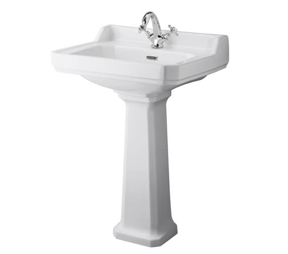 Alternate image of Hudson Reed Richmond White Basin With Comfort Height Pedestal