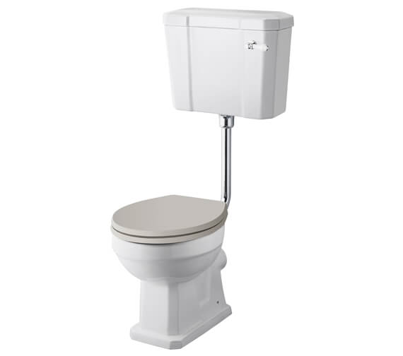 Hudson Reed Richmond Low Level WC Pan With Cistern And Flush Pipe Kit