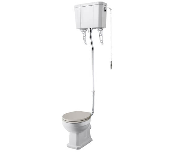 Hudson Reed Richmond High Level WC Pan With Cistern And Flush Pipe Kit