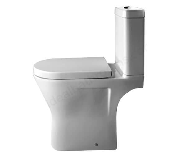 Essential IVY Close Coupled WC Pan With Cistern And Soft Close Seat