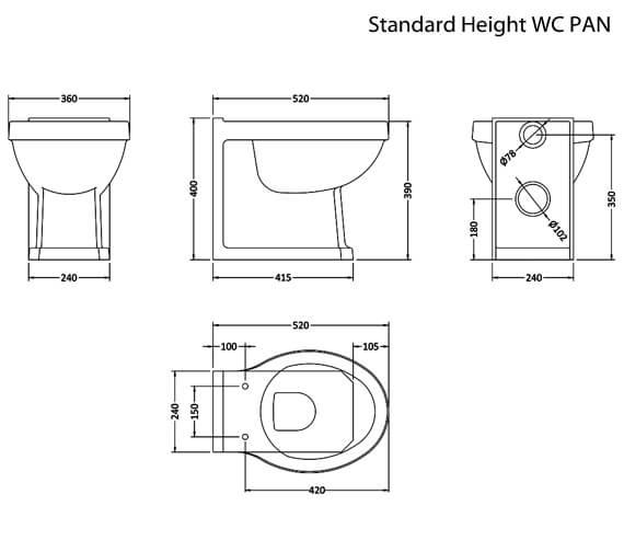 Technical drawing QS-V14306 / NCS806