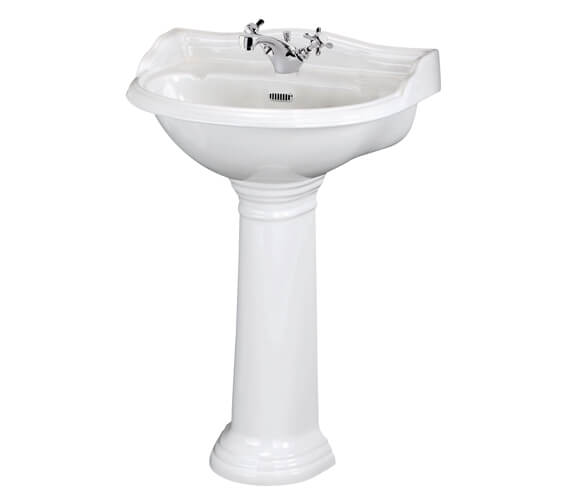 Hudson Reed Chancery Round Basin With Pedestal