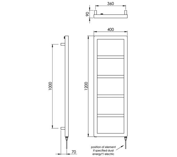 Technical drawing QS-V88543 / IN007 SS120040BS