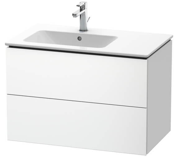 Duravit L-Cube Vanity Unit Wall-Mounted 2 Drawer Vanity Unit For ME by Starck Basin