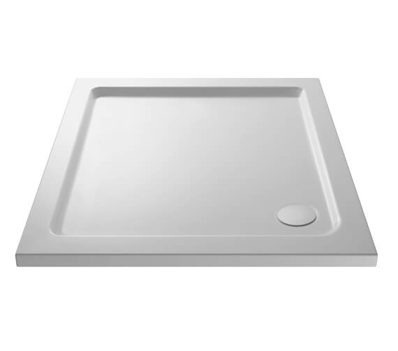 Hudson Reed Pearlstone 40mm Slimline ABS Acrylic Square Shower Tray