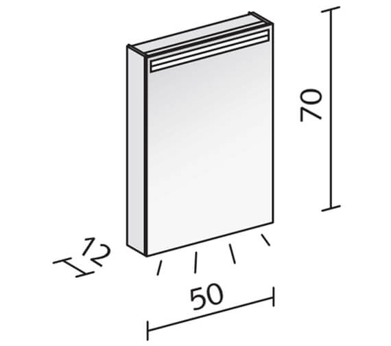 Technical drawing QS-V16537 / ARA 50/1/LED/R