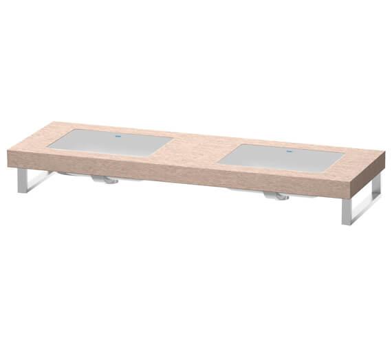 Duravit Fogo 800 x 550mm Oak Cashmere 2 Cut Out Console For Inset Basins F Bonded