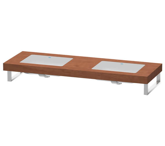 Additional image of Duravit Fogo 800 x 550mm Oak Cashmere 2 Cut Out Console For Inset Basins F Bonded