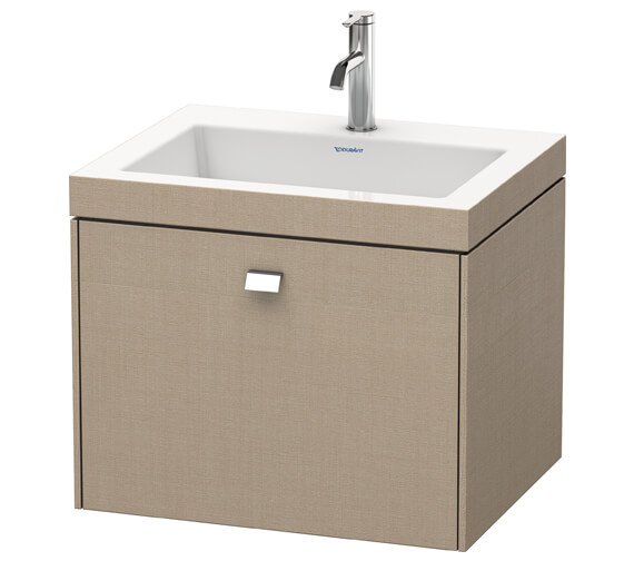 Alternate image of Duravit Brioso Wall Mounted 600mm 1 Drawer Vanity Unit With C-Bonded Basin
