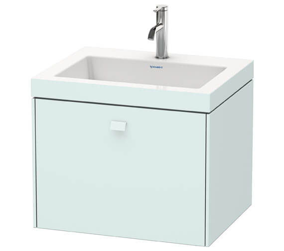 Additional image of Duravit Brioso Wall Mounted 600mm 1 Drawer Vanity Unit With C-Bonded Basin