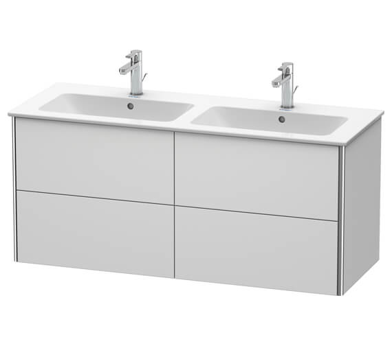 Alternate image of Duravit XSquare Wall Mounted 4 Drawer Vanity Unit 1280 x 478 x 560mm