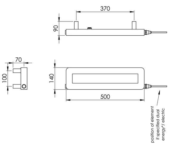 Technical drawing QS-V88542 / CN007A MS140050CP