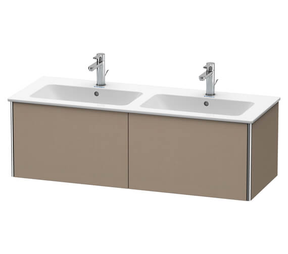 Alternate image of Duravit XSquare Wall Mounted 2 Drawer Vanity Unit 1280 x 478 x 400mm