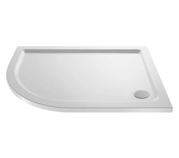 Hudson Reed Pearlstone 40mm Slimline ABS Acrylic Offset Quadrant Shower Tray