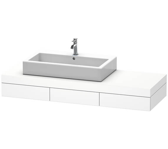 Duravit Fogo 1500 x 550mm 3 Drawer Console With Left Cut-Out