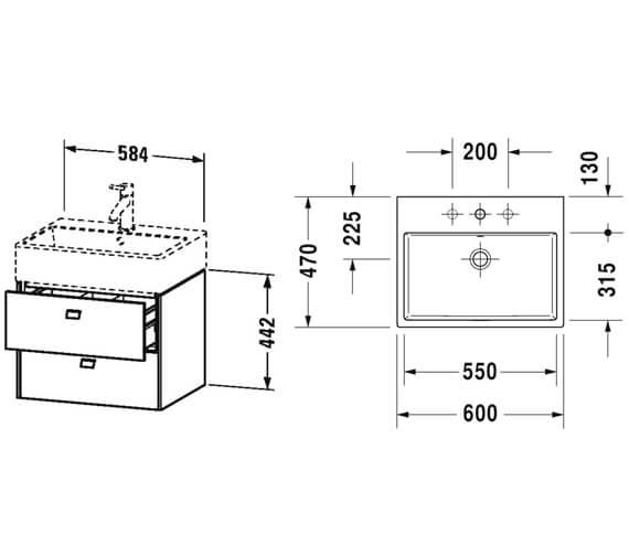 Technical drawing QS-V95832 / BR415201818