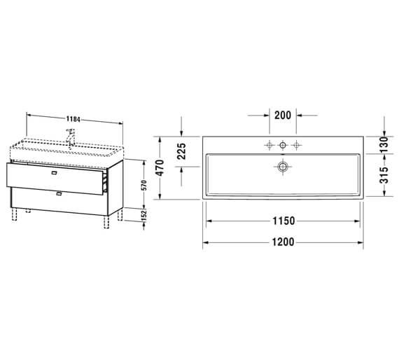 Technical drawing QS-V95833 / BR443201818