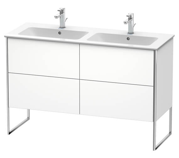 Duravit XSquare Floor-Standing 1280 x 478 x 832mm Vanity Unit With 4-Pull-Out Compartments