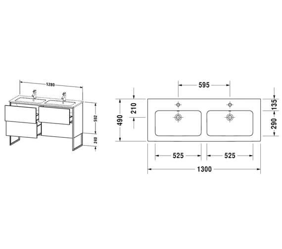 Technical drawing QS-V99608 / XS444901818