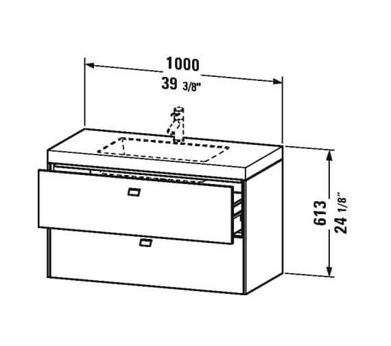 Technical drawing QS-V95838 / BR4605O1818