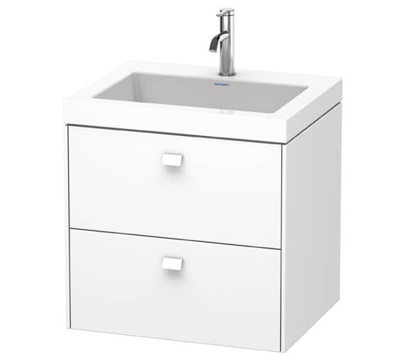 Duravit Brioso Wall Mounted 2 Drawer Vanity Unit With C-Bonded Basin