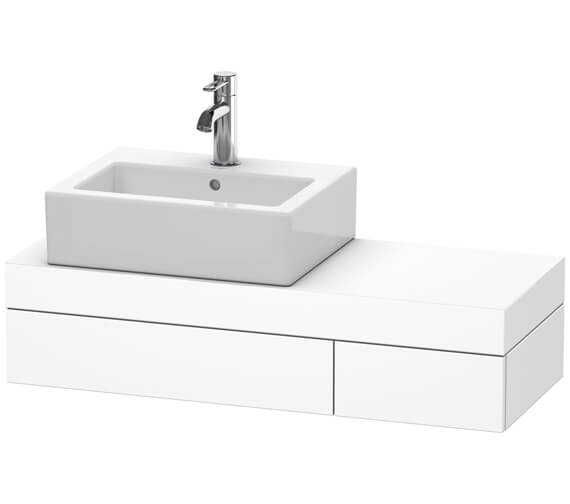 Duravit Fogo 900 x 360mm 1 Drawer Console And 2 Support With Left Hand Cut Out