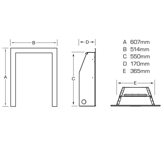 Technical drawing QS-V90888 / FKPCOBMN