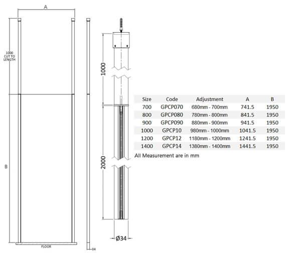 Technical drawing QS-V4956 / GPCP070
