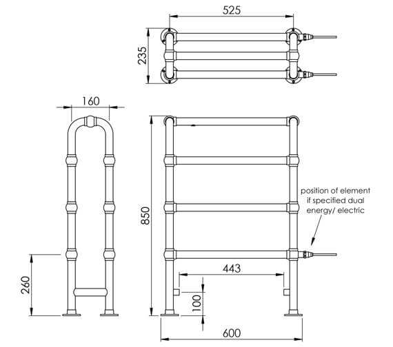 Technical drawing QS-V88590 / LG017 MS0850600CP