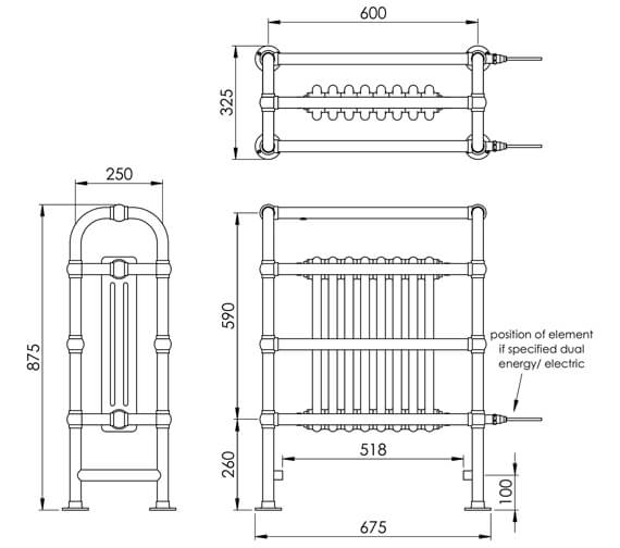 Technical drawing QS-V88589 / LG014 BR087067CP