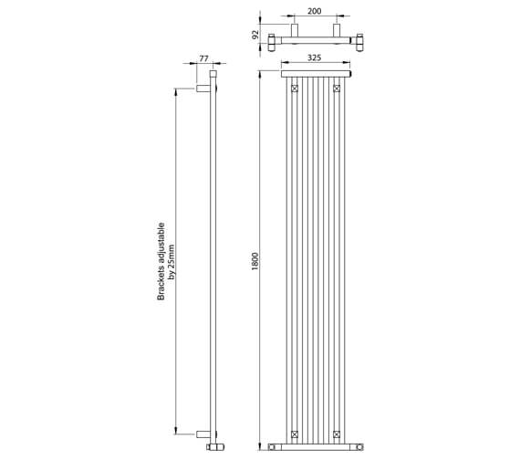 Technical drawing QS-V88613 / DR005 MS180325CP
