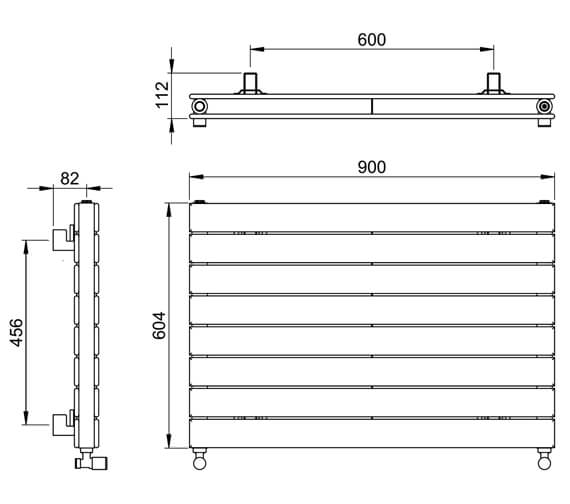 Technical drawing QS-V88611 / DR004DP MS0598090WH