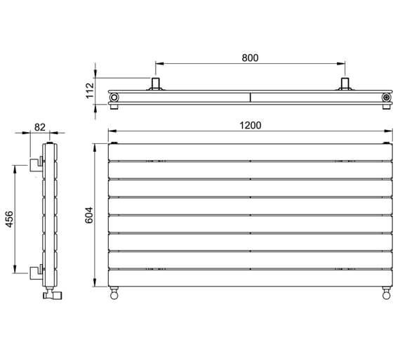 Technical drawing QS-V88612 / DR004DP MS0598120WH