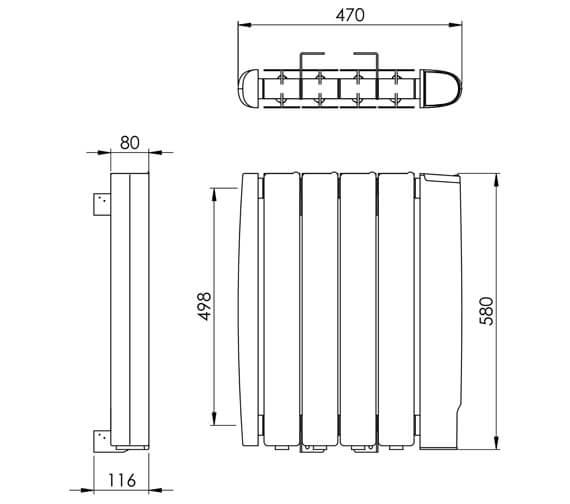 Technical drawing QS-V88615 / ER002 0580470WH-E